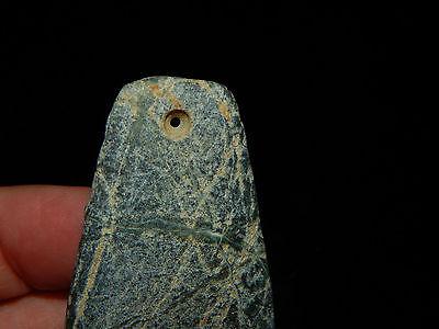 Pre-Columbian Jade Celt Pendant, Beautiful Shape, Authentic, Costa Rica 5