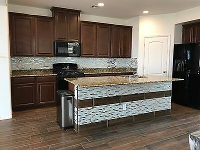 NEW WHITE INTERLOCKING Backsplash Glass Tile Iridescent ...