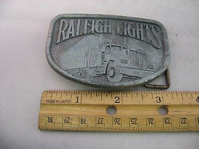 Vintage Mens Belt Buckle: RALEIGH LIGHTS Truck Semi 5