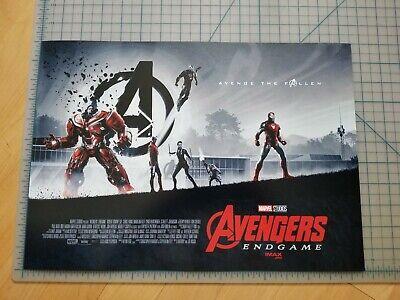"""Brand New AVENGERS ENDGAME WEEK 1 AMC IMAX MINI POSTER 11"""" x 15.5 """" RARE Marvel 2"""