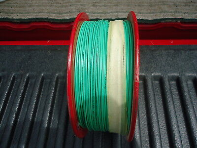 New Spool/Wire P/N 1447, 1000' Long. 22 Awg Pvc Stranded Green, 300V. 2