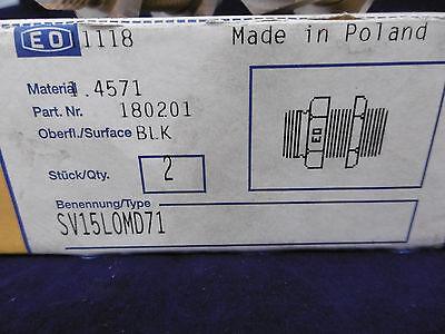 2x Parker Ermeto DIN-Verschraubungen SV15L0MD71 NEU OVP 2