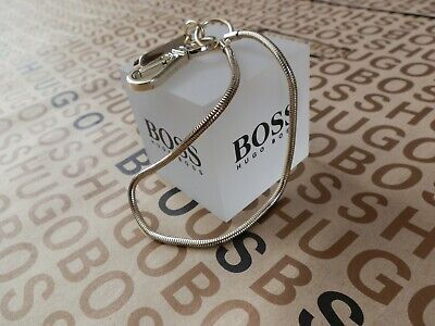 Hugo Boss designer gold wallet key ring keyring belt chain clip clasp holder £85