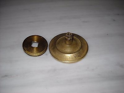 Vintage Greece solid brass large door knob handle D7 4