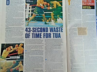 BOXING NEWS - 2nd oct 1998 - herbie, paul, lewis holyfield, naz free p&p to uk 11
