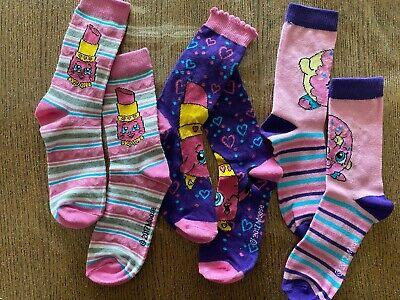 3 Paia Calzini Shopkins Calze Bambina Bimba 2 Scelte 23/26 27/30 31/34 Rosa 3