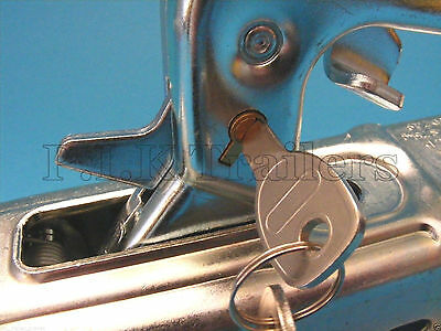 Anti-Theft Lock for Pressed Steel Coupling Hitch on Erde & Daxara Trailer 3