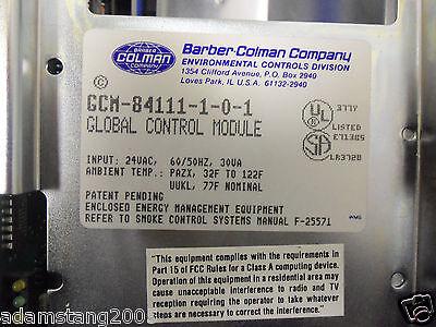 BARBER COLEMAN NETWORK 8000 Global Controls Module Gcm 84111 1 0 1 24 Vac Panel