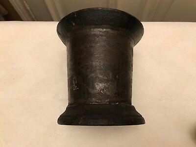 antiker Mörser / Pistill Eisen / Holz/Porzellan ca 2,7 kg Sammlerstück 11