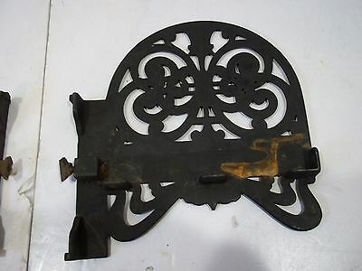 "Antique Cast Iron Shelf Brackets Left and Right for 6 1/2"" X 3/4"" shelf Vintage 5"