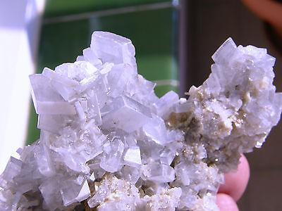 "Minerales""Extraordinarios Cristales Barita Azul Mina Moscona Asturias - 8A13"" 7"