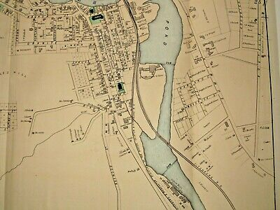 City Of Fitchburg, Ma., 1870 Map, 34X15 Inches, From The Beer's 1870 Atlas 3