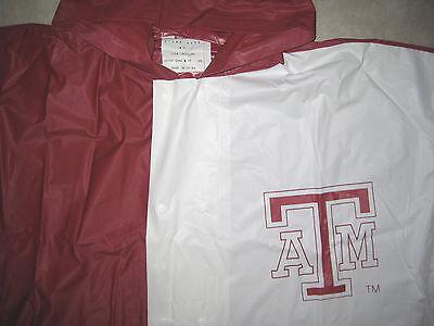VINTAGE TEXAS A&M TAMU Aggies 12th Man Football RAIN PONCHO JACKET Coat USED