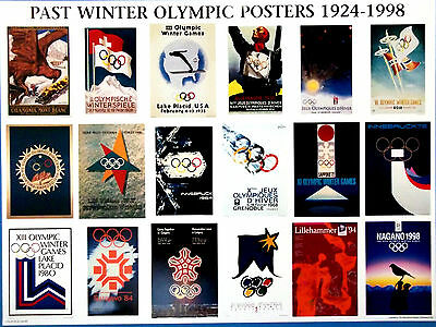 """1932 Lake Placid IOC Licensed reprint 13/"""" x 18/"""" WINTER OLYMPIC POSTER"""