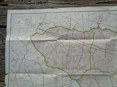 Vintage 1949 LARGE MARYLAND MAP - HOWARD COUNTY Topography & Election Districts 4