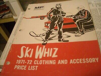 1971 Vintage SKI WHIZ Snowmobile Catalog Massey Ferguson Farm 2