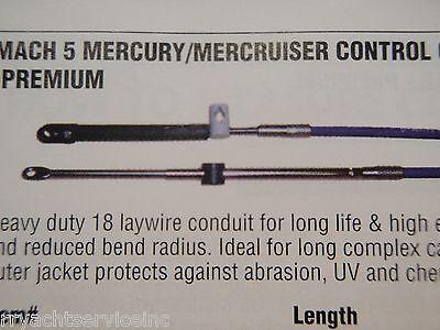 MERCURY MERCRUISER CONTROL CABLE UFLEX MACH5X11 SHIFT THROTTLE CABLE 11FT