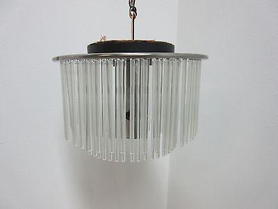 Vintage Mid Century Lightolier  Swizzle Sticks Hanging Light Chandelier Lamp 8