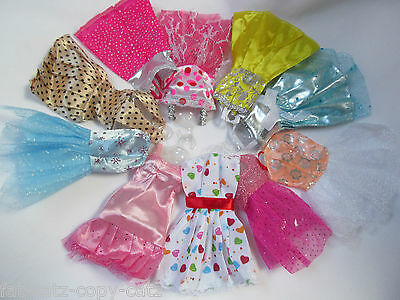 10x Doll Dresses Clothes set UK Seller FREE UK P&P Made for Barbie 3