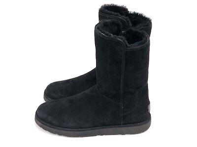 f360cf430d1 UGG AUSTRALIA ABREE II Short Black Suede/Sheepskin Boots US Women's 1016589