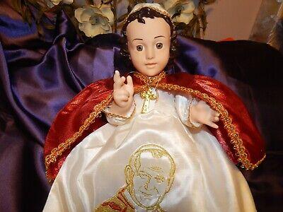 Nino Dios Baby Jesus Hermoso Vestido Del Papa Juan Pablo Ii Medidas En Cms 35 99 Picclick
