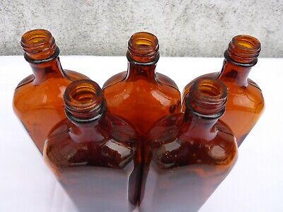 5 x alte braune Medizin Glas Apotheke Apotheker Flasche 250 ml ca. 17,0 cm braun 4