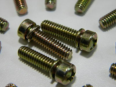 Holley Carburetor Throttle Body Base Plate Screws Demon AED Quick Fuel 6PK A41