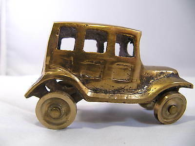 Vintage Small Cast Brass Antque Style Car