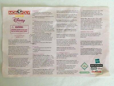 Monopoly Junior Disney Princess Edition Replacement Pieces Board Castles Money