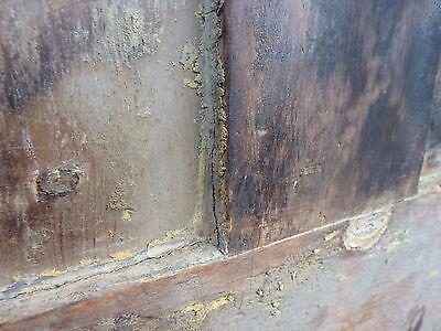 "Early 19th century RAISED panel door w/ SMOKED design decor 76 x 30 x 1 7/16"" 11"