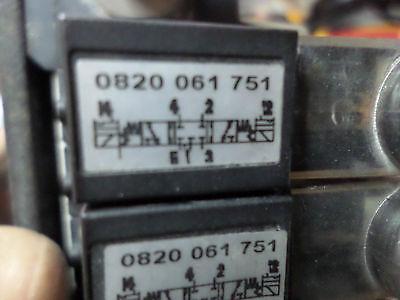BOSCH REXROTH DIRECTIONAL VALVE MANIFOLD 7 off 5/3 24DC coils 0820 060 751