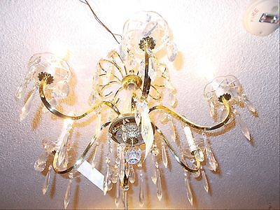 Vintage Schonbeck Gold and Crystal 6 Arm Chandelier:  Bay Area Salvage 2