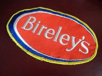 BIRELEY'S BEVERAGE UNIFORM PATCH SODA - 6 1/2 x 4 INCH VINTAGE RARE ORIGINAL!