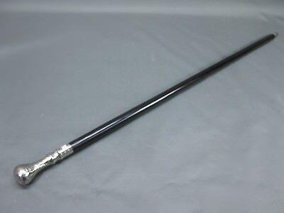 couleur noire bois canne poignée vieil argent 95 cm de marche walking bâton