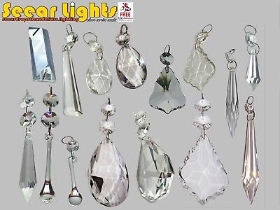 Cut Glass Crystals Chandelier Droplets Wedding Drops Beads Light Spare Parts 4