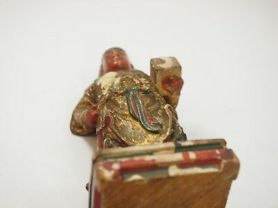 Chinese Polychrome Wood Carved Gift Bearer 6
