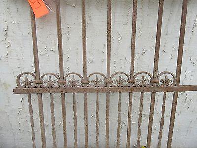 Antique Victorian Iron Gate Window Garden Fence Architectural Salvage Door #317 3