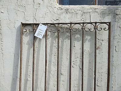 Antique Victorian Iron Gate Window Garden Fence Architectural Salvage Door #341 2