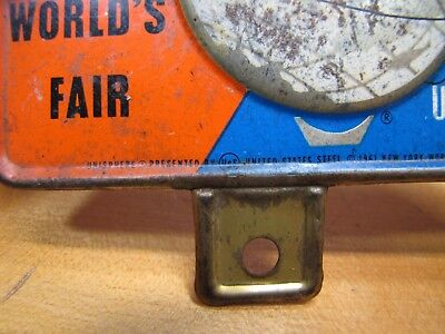 1964-65 New York World's Fair Unisphere License Plate Topper Bike Auto Sign NYWF 7