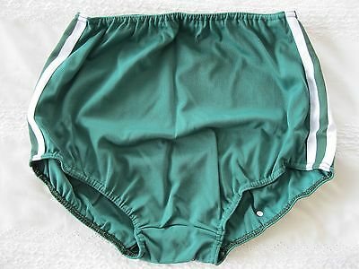Ladies/Girls Gymphlex XL 100% Bri Nylon Bottle Green Gym Knickers (W 30 - 38In) 2