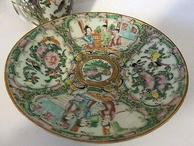 Antique Rose Medallion Cup And Saucer Handpainted Birds And Roses 1800'S 3