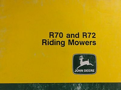 John deere r70 and r72 riding mowers operator's manual om-m86426.