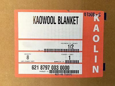 "Kaowool 1//2/""x6/""x6/"" Thermal Ceramics Fiber Insulation Blanket 8# Muffler Stove US"