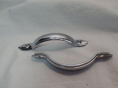 2 Silver Metal Drawer Pulls VIntage Retro 2