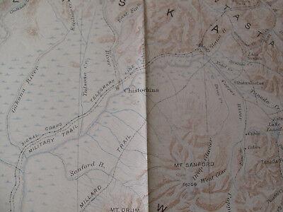 Geological Survey Map Mount Wrangell Alaska Valdez China Station Cooper Center 3