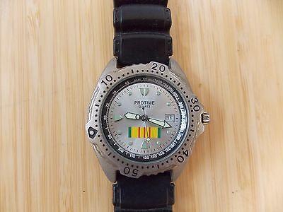 Zanwatch Protime Quartz Mens Stainless Steel Back Wrist Watch 2