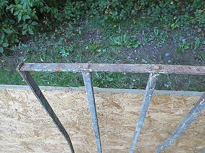 Antique Victorian Iron Gate Window Garden Fence Architectural Salvage Door WWW 5
