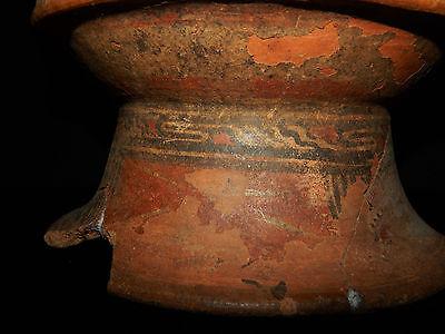 Pre-Columbian Pedestal Urn, Chimney Pot,Polychrome, Nicoya, Very Large 10