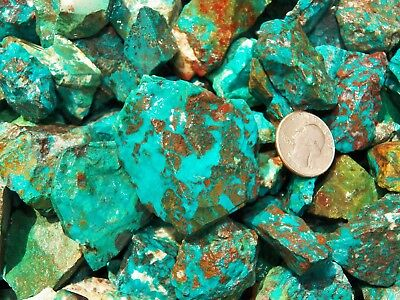 1000 Carat Lots of  Chrysocolla & Turquoise Rough - Plus a FREE Faceted Gemstone 8