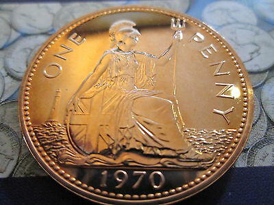 UK Proof Penny 1p Mint Condition! 1970 - 2010  great condition VARIOUS YEARS 2